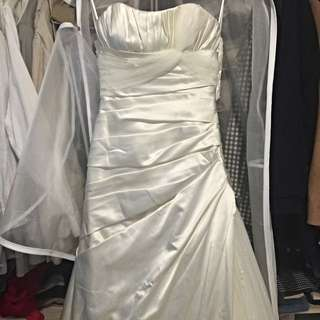 Pronovias款 氣質緞面白紗 婚紗 禮服