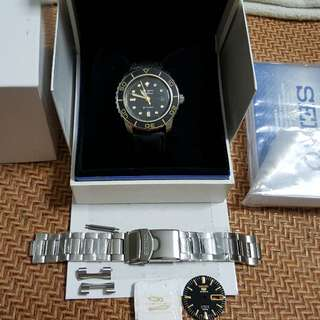 RESERVED BY *ASSORTEDBACON* Seiko SNZH57 (FFF) Fifty-Five Fathom Gold Modded