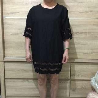 黑色休閒洋裝