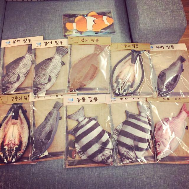 (現貨+預購)韓國生魚🐟筆袋