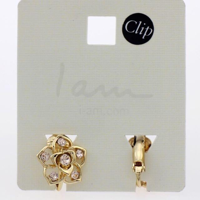 現貨供應⚓️歐美發亮鑽石好搭禮服無耳洞夾式耳環
