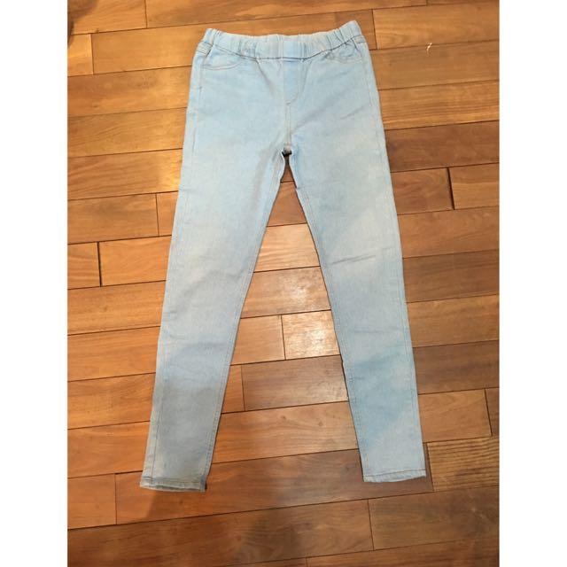 淺藍彈性牛仔褲👖