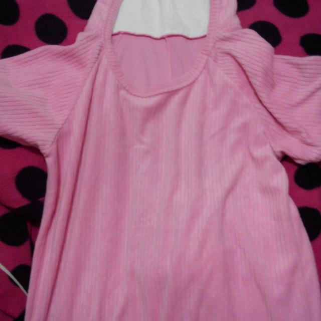 粉色毛毛上衣(罩衫)