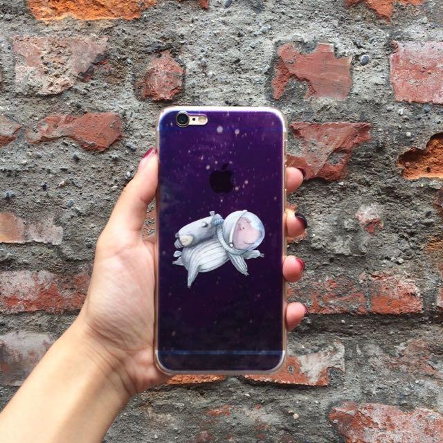 太空豬(灰)手機殼