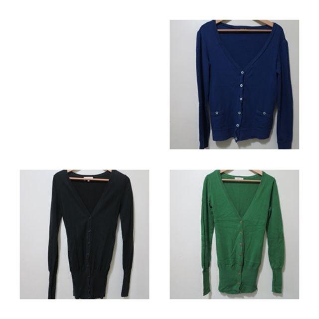 二手  針織毛衣 深藍/黑/綠