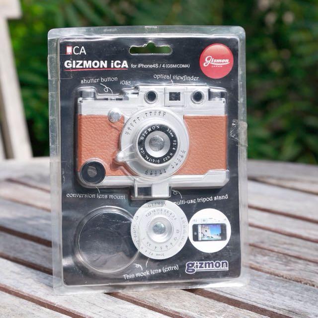 相機造型 手機殼 咖啡色 全新