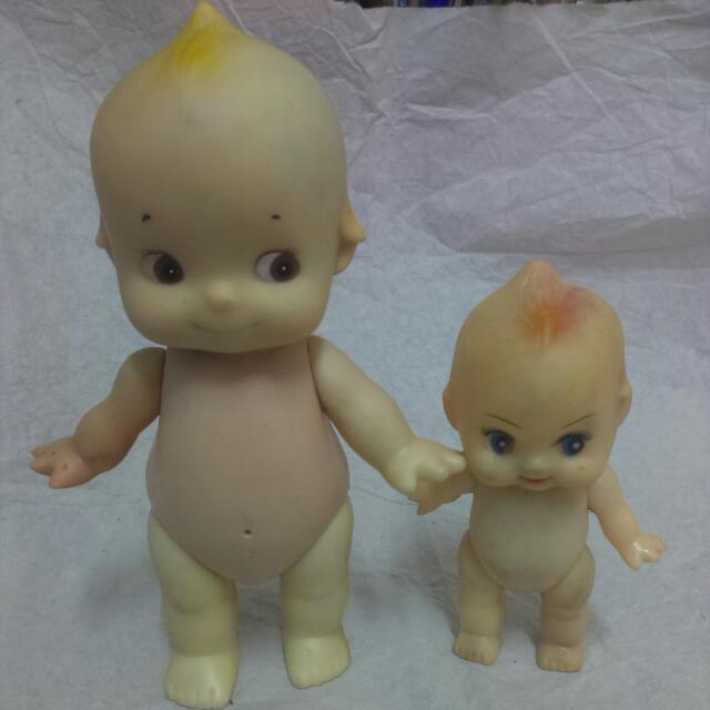 老玩具 絕版 老物 Q比 丘比 Q比娃娃 大手牽小手 少見款式