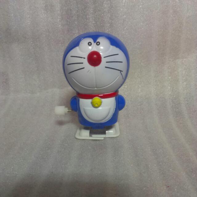 日本卡通 哆啦A夢 小叮噹 發條走路公仔 玩具