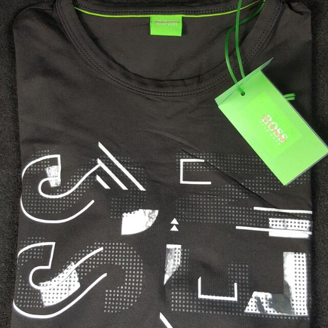 store new release many fashionable Auth Hugo Boss Men's Black Design Graphic Tee Made In Turkey ...