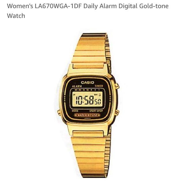 Casio復古金錶(免運)
