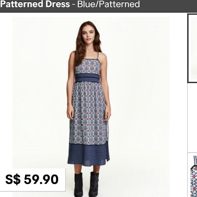 d412ef5d2daa H m Bohemian Patterned Midi Dress