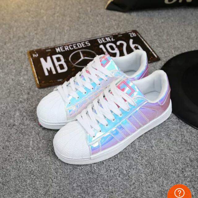 best service 4426e 8fd64 Holographic Adidas All Star, Sports on Carousell