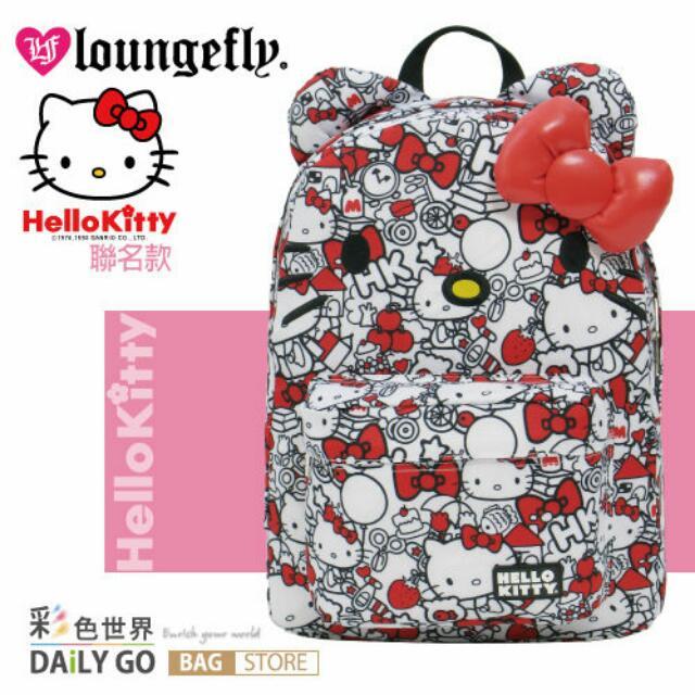 Loungefly Hello Kitty 凱蒂貓 聯名款 後背包 肩背包 艾薇兒 聯名款