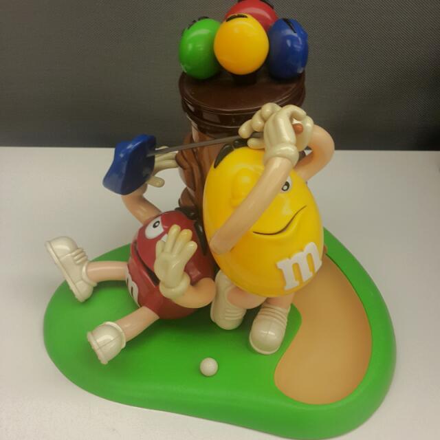 m&m巧克力豆 高爾夫豆人機 遊戲機 糖果機 類似轉蛋機但是轉的是巧克力豆
