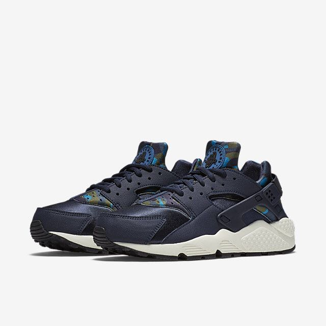 146f37156484 Nike Air Huarache Print (Women) - Obsidian Sail Black Black