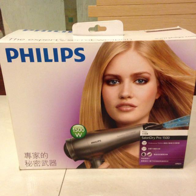 PHILIPS  專業陶瓷負離子吹風機組 HP8251