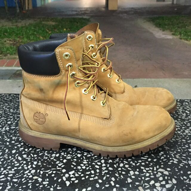 eab3498c Timberland Yellow Boots, Men's Fashion on Carousell