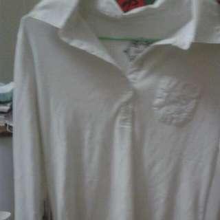 白色氣質長袖上衣