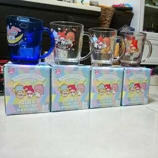 美樂蒂X雙星仙子 40週年限量玻璃馬克杯