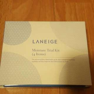Laneige Moisture Trial Kit (4 Items) - Water Bank Gel Cream EX - Water Bank Essence EX - Balancing Emulsion  - Power Essential Skin Refiner