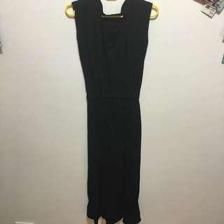 無袖長版洋裝