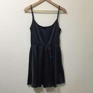 【二手】黑色緞面小禮服