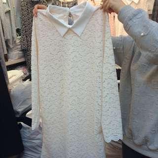 正韓蕾絲小洋裝 韓國最新款