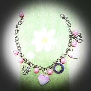 Charm Bracelet - Pink