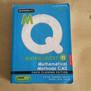 Math Quest 11: Mathematical Methods CAS