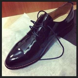 Pazzo 女生紳士 黑皮鞋