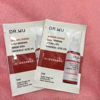 Dr.wu 杏仁酸溫和煥膚精華6%1ml*2