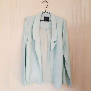 SPORTSGIRL Mint Blazer With Sheer Back