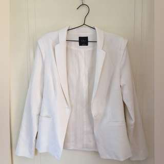 SPORTSGIRL White Fitted Blazer