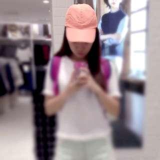 螢光橘棒球帽