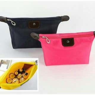<含運>糖果色化妝包  #粉紅色,黑色