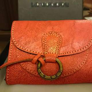 正品Sisley仿舊零錢卡包
