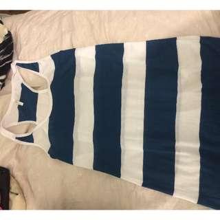 Seafolly striped shift beach dress size 12