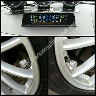 Ready Stock - Tyre Pressure Monitoring System (TPMS) with Solar Charging and Voltage Meter