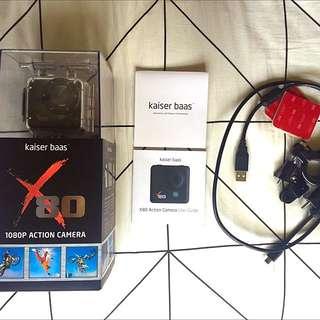 X80 Action Camera Kaiser Baas BUNDLE