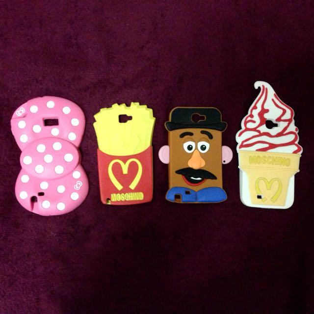 三星Samsung Note2手機殼 MOSCHINO款冰淇淋/蛋頭先生/蝴蝶結/薯條