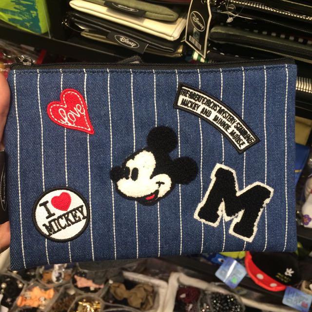 正版迪士尼米奇化妝包/筆袋