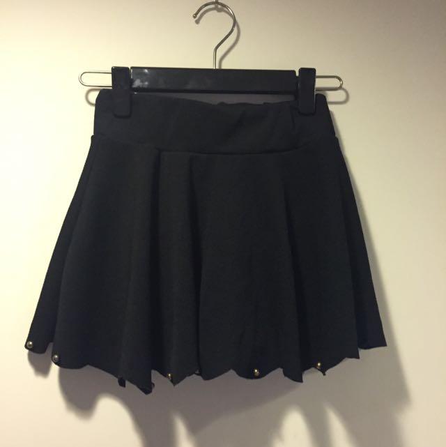 超可愛鬆緊造型高腰裙 褲裙