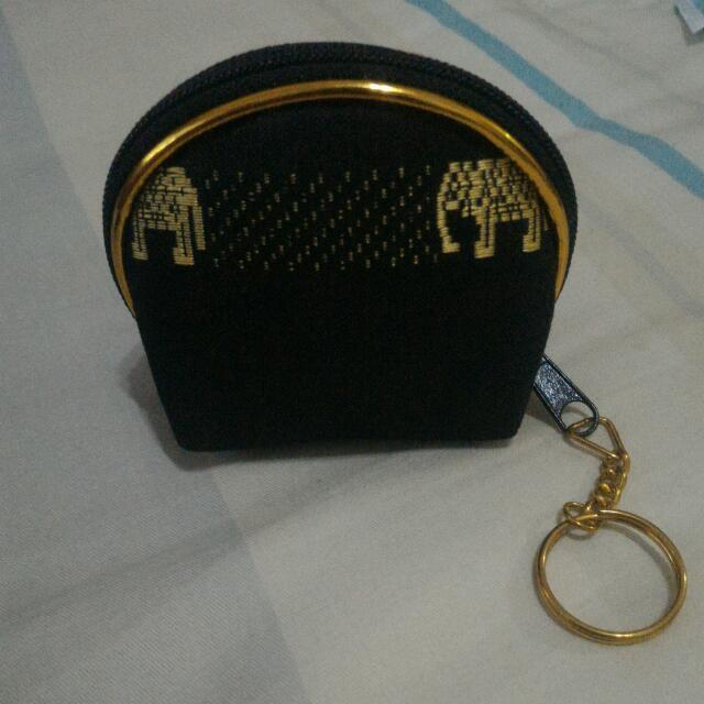 泰國 大象零錢包 泰絲