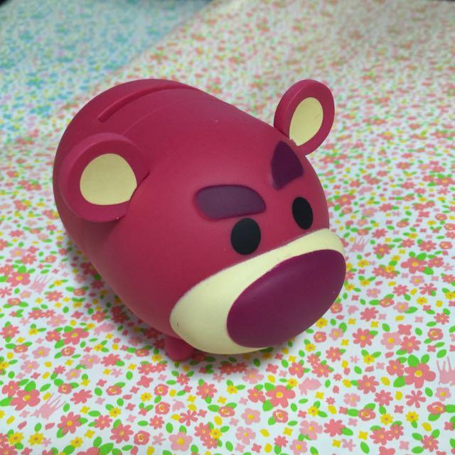 全家 迪士尼 可愛在一起 TSUM TSUM 熊抱哥存錢筒&三眼怪夾子