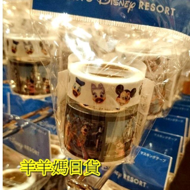 日本進口 Disney Land東京迪士尼樂園限定_經典樂園布偶寫真2捲入紙膠帶組【羊羊媽日貨♥】