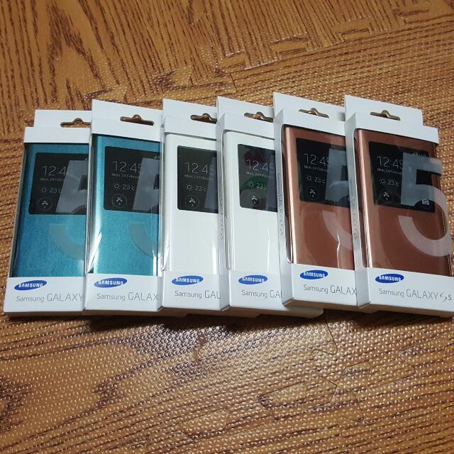三星 Galaxy S5 S-view Cover 翻頁式背蓋 公司貨 全新