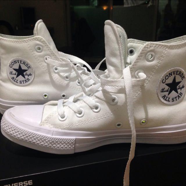 Converse全白改良鞋墊款