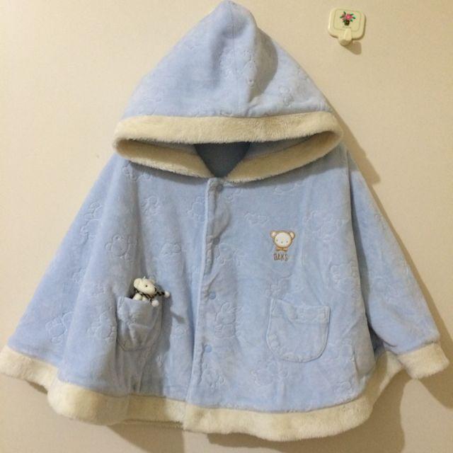DAKS 嬰幼兒雙面穿水藍絨斗蓬