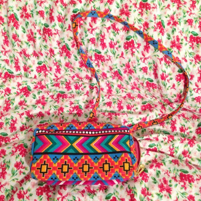 Ethnic over shoulder/hand bag