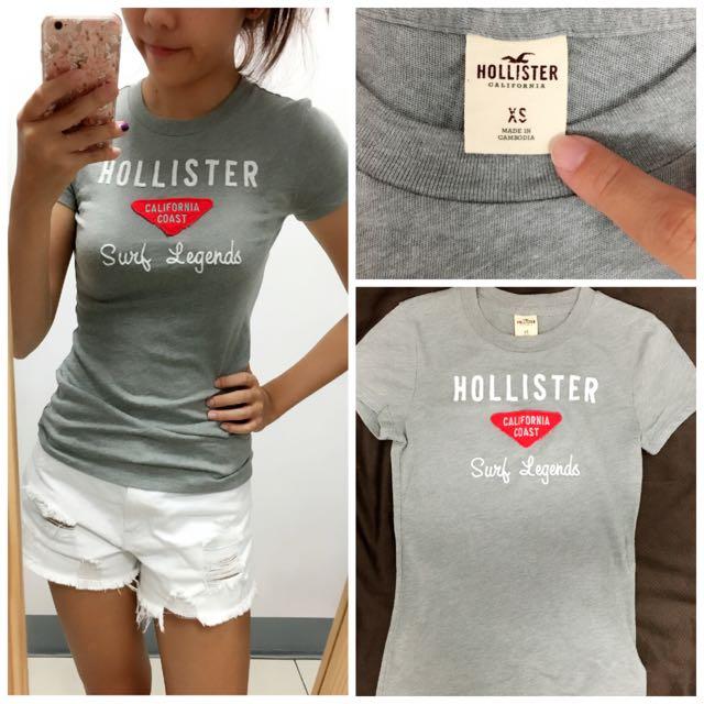 Hollister 灰色短T